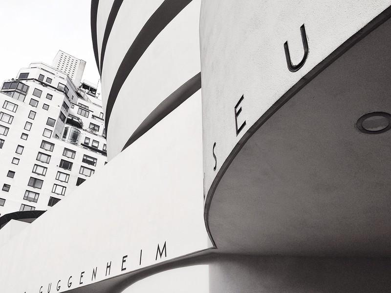 Guggenheim Museum in Black and White