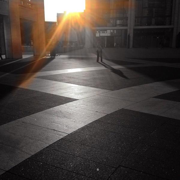 The Sun Setting Over the Josie Robertson Plaza