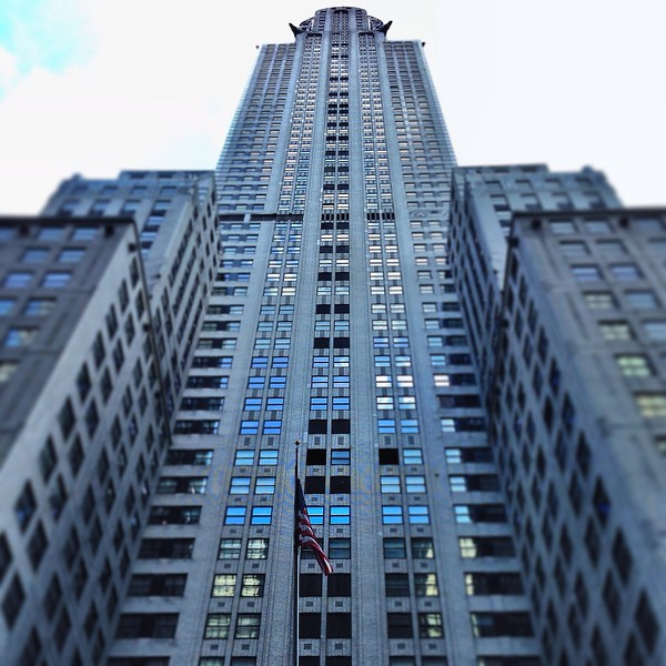 Looking Up at the Chrysler Building