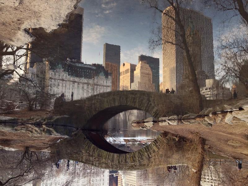 Gapstow Bridge Reflection - Central Park South