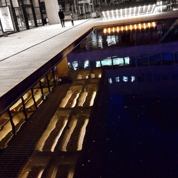 Long View Reflection at the Lincoln Center Pool