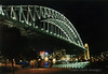 Sydney Harbor Bridge at night, Sydney, Australia.