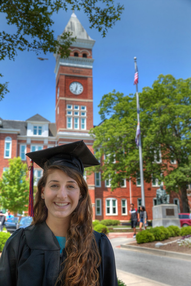 Sara graduated from Clemson University with a degree in Civil Engineering in 2015.  She's busy conquering the world now....