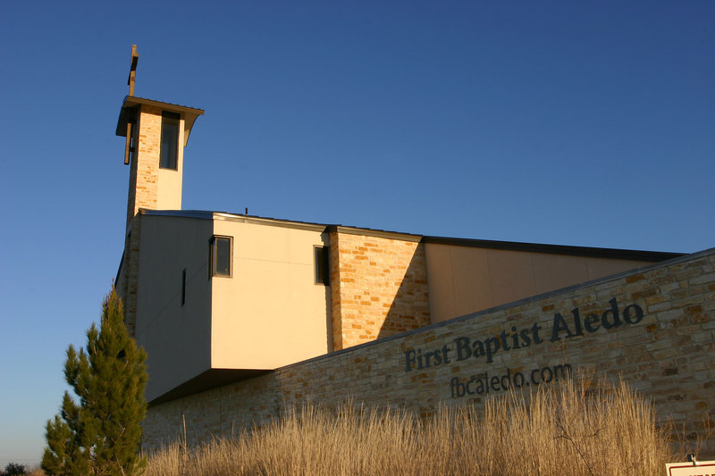 "We live in a suburb of Fort Worth, Texas. You can see some of my church photos <a href=""http://www.saltforkimages.com/First-Baptist-Church-Aledo"">here. </a>"