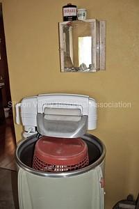 Vintage washing machine with a top wringer
