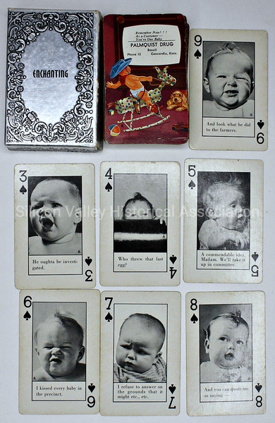 1950s Concordia Kansas Palmquist Drug Playing Cards Baby Theme