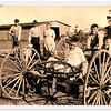 Farm kids on a wagon in Coldwater, Kansas in 1918