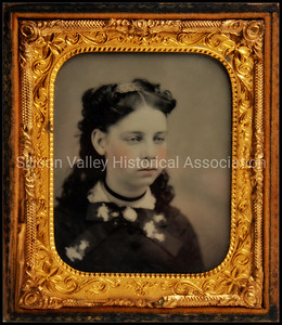 Victorian ferrotype of a young girl from the 1860s