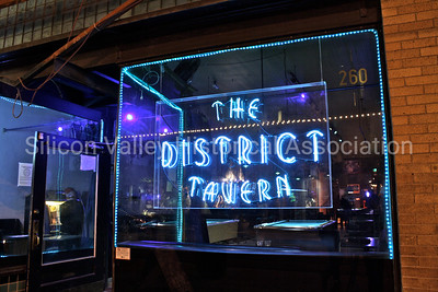 The District Tavern at night - located in Tucson, Arizona