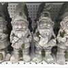 Concrete garden gnomes