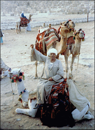 Camel herder in Egypt, 1979