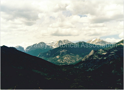Mountain range around Estes Park, Colorado in 1996