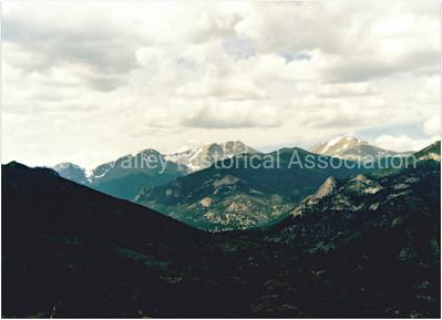 Mountain range around Estes Park, Colorado in 1996