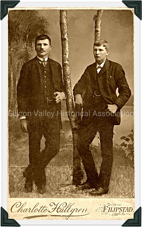 Charlotte Hallgren Filipstad photo of two men in suits posing  circa 1872