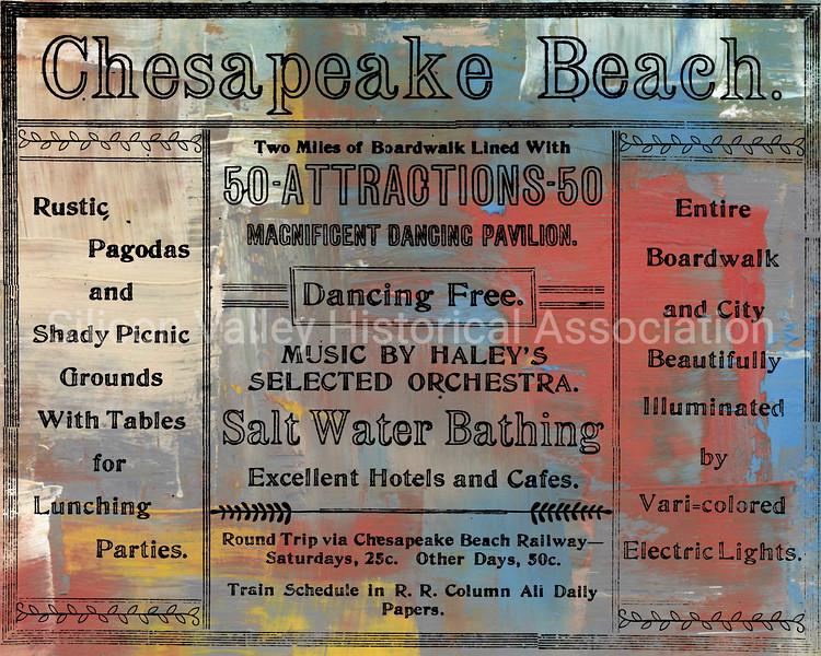 Chesapeake Beach, Maryland advertisement from 1912