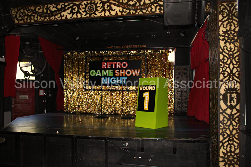 Retro Game Show Night Round One stage set up at the Hotel Congress in Tucson