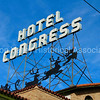 Hotel Congress in Tucson, Arizona - decorated for Christmas 2017