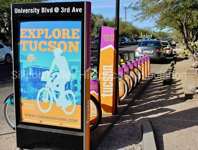 TuGo Bike Share Station Explore Tucson motorized bikes