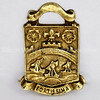 Military Fortissima Brass Heraldry Crest Embossed Castle Ships England