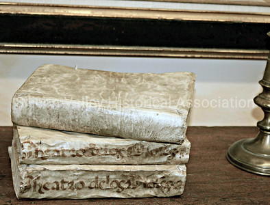 Vellum covered books