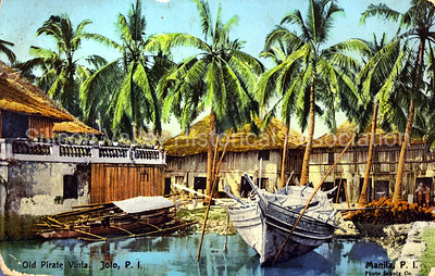 Early 1900s postcard from Manila, Philippines - Old Pirate Vinta