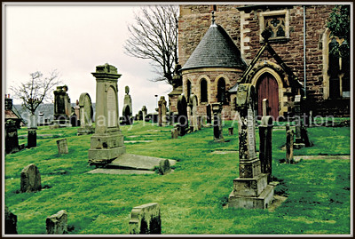 Aberdeen with graveyard in Scotland, 1997