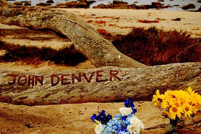 John Denver's Memorial Site in Monterey, CA.  His planed crashed in Monterey Bay in 1997.