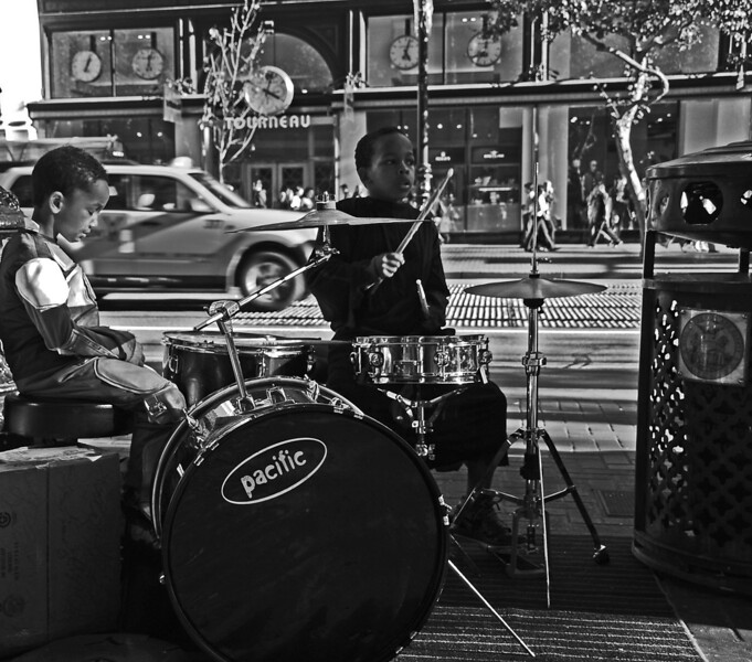 Baby Drummer, Powell Street in San Francisco, CA