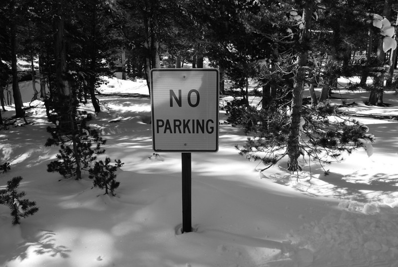 No Parking,  Winter of 2008 in Mammoth Lakes, CA