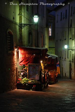 Volterra side street restuarant