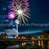 Prattville Fireworks from Autauga Creek