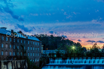 Blue hour at Prattvile Gin Company and dam