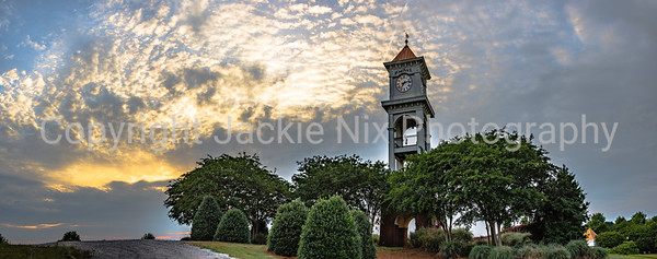 Clock Tower with dramatic cloudscape