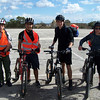 Chris, Tom, George and Zack ready to set off at Luxol car park