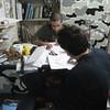 Ian and Simon correcting the tests