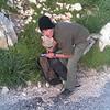 Andrew taking a break near the chapel