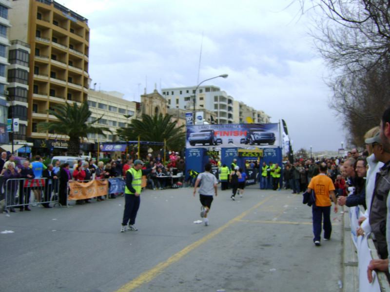 Allen sprinting the last few metres