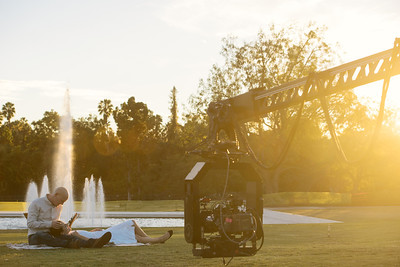 Behind the scenes with Thure Lindhardt and Camilla Belle in Bald.