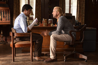 Ken Marino and Peter Stormare in Bad Milo.