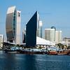 City architecture lining Dubai Creek