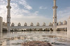 Sheikh Zayed Grand Mosque, domes, arches, minarets, inlaid marble courtyward, Abu Dhabi, UAE