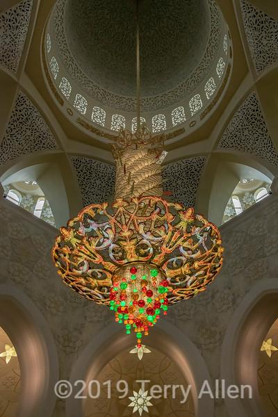 Faustig 12 ton crystal chandelier, Sheikh Zayed Grand Mosque, Abu Djabi, UAE