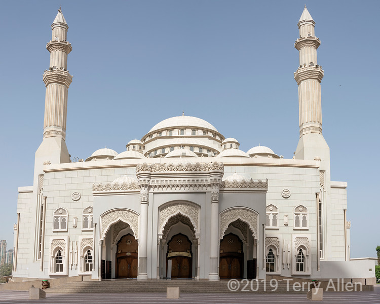 Al Noor mosque, Turkish Ottoman architecture (2005), Sharjah, UAE