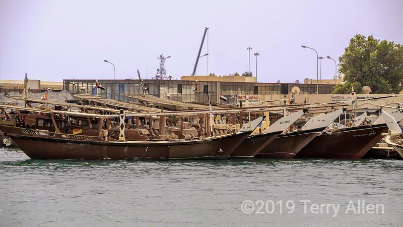 Fishing dhows, Abu Dhabi harbour, Abu Dhabi, UAE