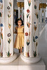 Girl in a gold dress, Sheikh Zayed Grand Mosque, Abu Dhabi, UAE