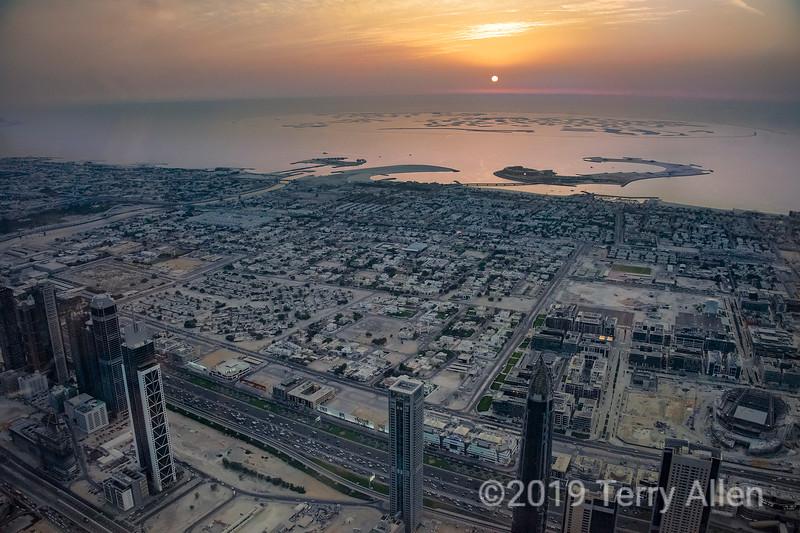 Sunset from the Bruj Kalifa, Dubai, United Arab Emirates