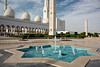 Star-shaped fountain at entrance to Sheikh Zayed Grand Mosque, Abu Dhabi, UAE