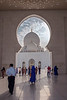 Main entrance, Sheikh Zayed Grand Mosque, Abu Dhabi, UAE