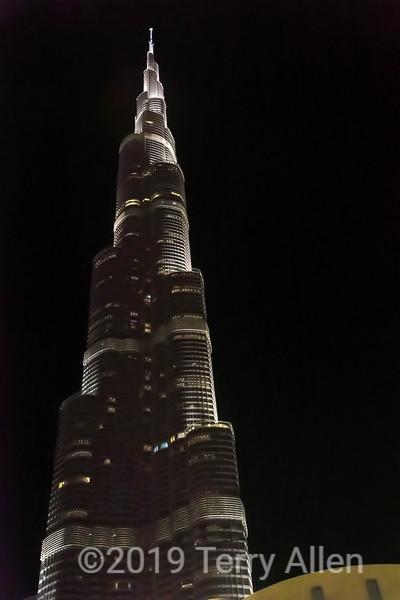 Burj Kalifa at night, Dubai, UAE