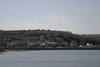 Mumbles, with Oystermouth Castle in the background.  <br /> <br /> Swansea.